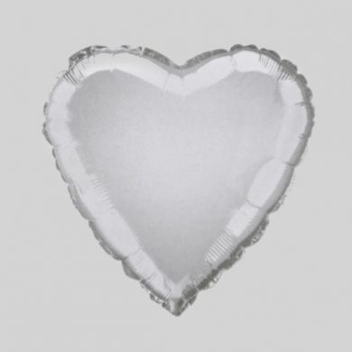 White Heart - Helium Balloon - Shape Balloon - 18 inch