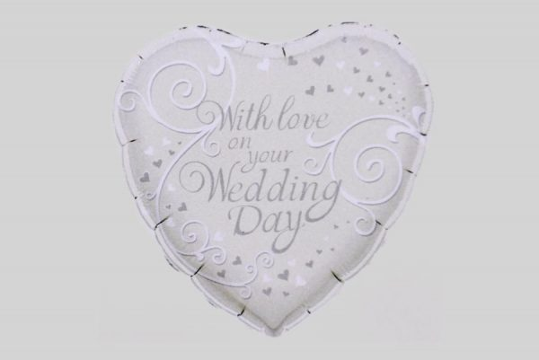 With love on your Wedding Day Helium Balloon