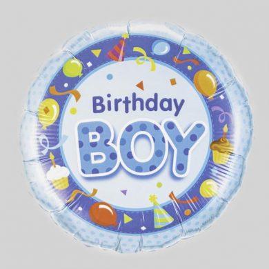 Birthday Boy Balloon - Blue party