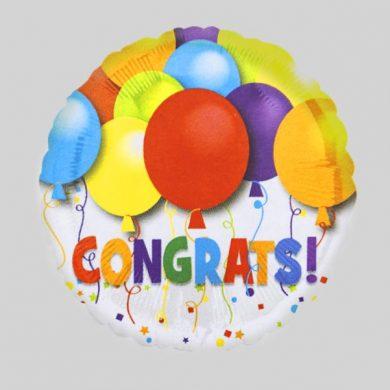 Congrats Cirle Helium Balloons