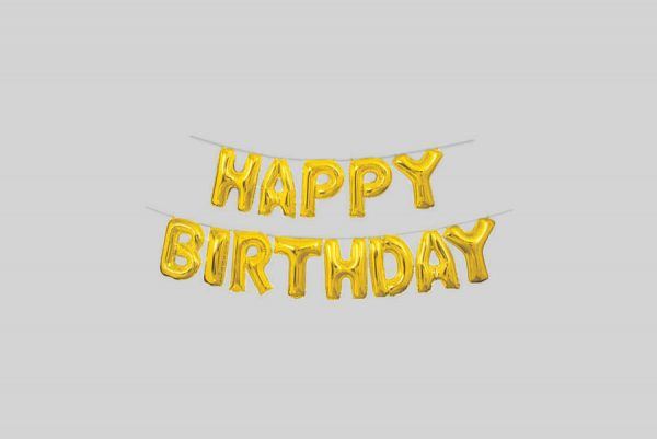 Gold Foil Happy Birthday Balloon