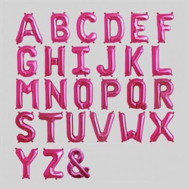 Alphabet, Pink Foil Letter Balloons