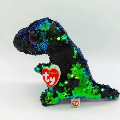 TY Flippables - Crunch Dinosaur sequin toy
