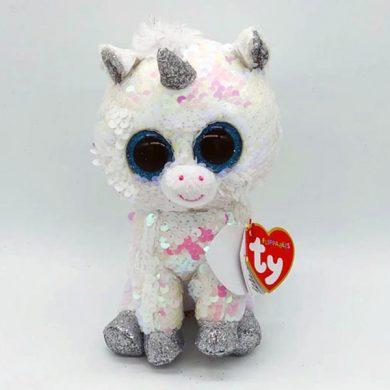 TY Flippables - Diamond White Unicorn sequin toy