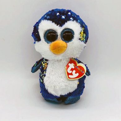 TY Flippables - Payton Penguin sequin toy