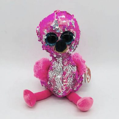 TY Flippables - Pinky Flamingo sequin toy