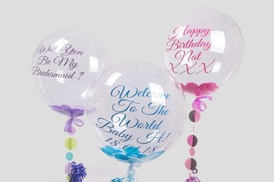 Personalised Confetti Helium Balloons